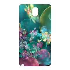Butterflies, Bubbles, And Flowers Samsung Galaxy Note 3 N9005 Hardshell Back Case