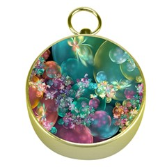 Butterflies, Bubbles, And Flowers Gold Compasses