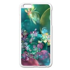 Butterflies, Bubbles, And Flowers Apple iPhone 6 Plus/6S Plus Enamel White Case