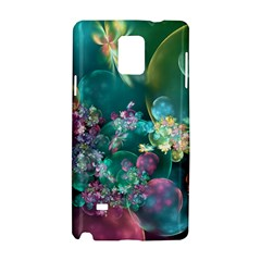 Butterflies, Bubbles, And Flowers Samsung Galaxy Note 4 Hardshell Case