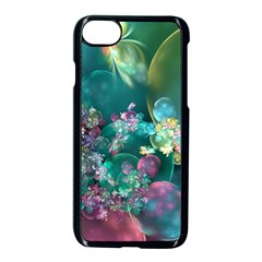 Butterflies, Bubbles, And Flowers Apple Iphone 7 Seamless Case (black)