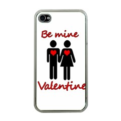 Be mine Valentine Apple iPhone 4 Case (Clear)