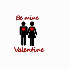 Be mine Valentine Small Garden Flag (Two Sides)