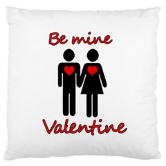 Be mine Valentine Standard Flano Cushion Case (Two Sides)