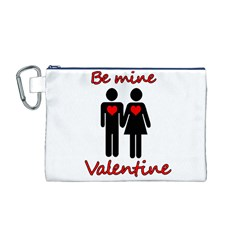 Be mine Valentine Canvas Cosmetic Bag (M)