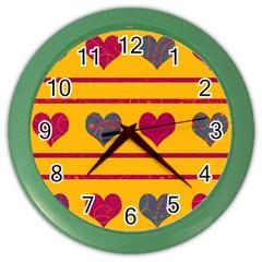Decorative harts pattern Color Wall Clocks