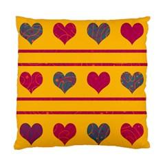 Decorative harts pattern Standard Cushion Case (One Side)