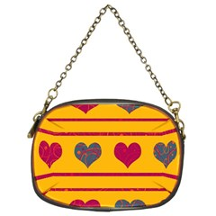 Decorative harts pattern Chain Purses (Two Sides)