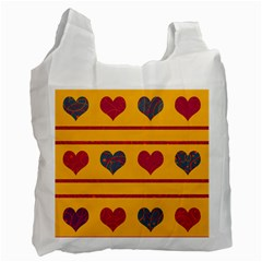 Decorative harts pattern Recycle Bag (One Side)