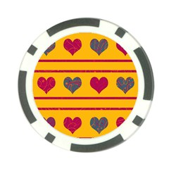 Decorative harts pattern Poker Chip Card Guards (10 pack)