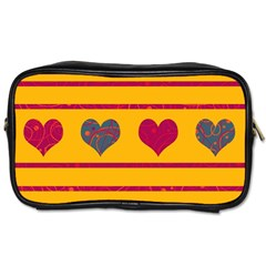 Decorative harts pattern Toiletries Bags 2-Side