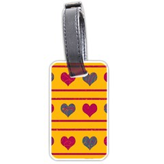 Decorative harts pattern Luggage Tags (One Side)