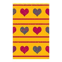 Decorative harts pattern Shower Curtain 48  x 72  (Small)