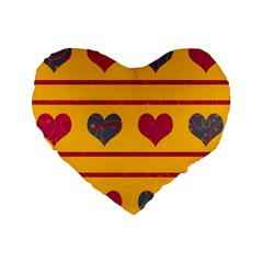 Decorative harts pattern Standard 16  Premium Heart Shape Cushions