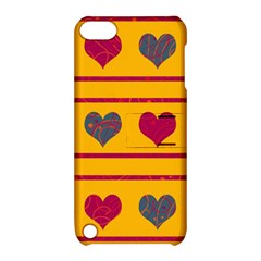 Decorative harts pattern Apple iPod Touch 5 Hardshell Case with Stand