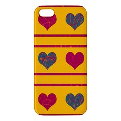 Decorative harts pattern Apple iPhone 5 Premium Hardshell Case