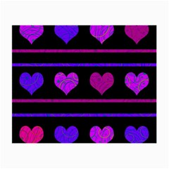 Purple and magenta harts pattern Small Glasses Cloth
