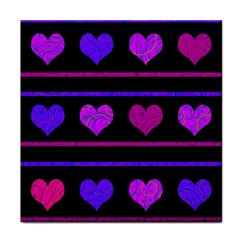 Purple and magenta harts pattern Face Towel