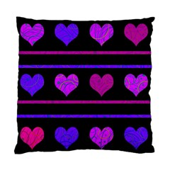 Purple and magenta harts pattern Standard Cushion Case (One Side)
