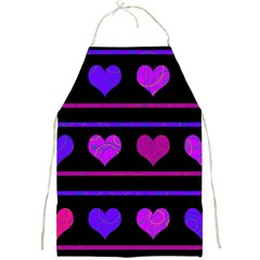 Purple and magenta harts pattern Full Print Aprons