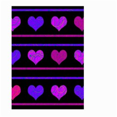 Purple and magenta harts pattern Large Garden Flag (Two Sides)