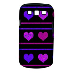 Purple and magenta harts pattern Samsung Galaxy S III Classic Hardshell Case (PC+Silicone)