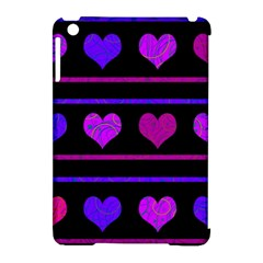 Purple and magenta harts pattern Apple iPad Mini Hardshell Case (Compatible with Smart Cover)