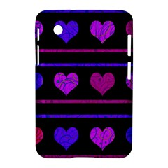 Purple and magenta harts pattern Samsung Galaxy Tab 2 (7 ) P3100 Hardshell Case