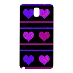 Purple and magenta harts pattern Samsung Galaxy Note 3 N9005 Hardshell Back Case