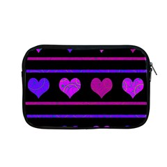 Purple And Magenta Harts Pattern Apple Macbook Pro 13  Zipper Case