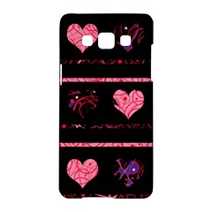 Pink elegant harts pattern Samsung Galaxy A5 Hardshell Case