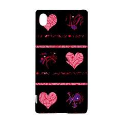 Pink elegant harts pattern Sony Xperia Z3+