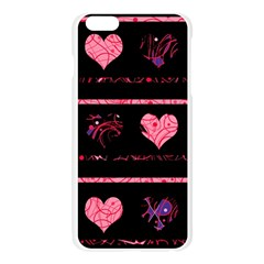 Pink elegant harts pattern Apple Seamless iPhone 6 Plus/6S Plus Case (Transparent)
