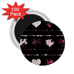 Elegant harts pattern 2.25  Magnets (100 pack)