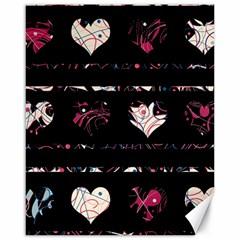 Elegant harts pattern Canvas 16  x 20