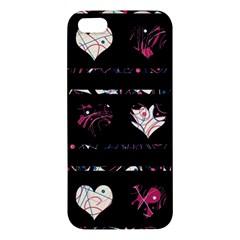 Elegant harts pattern Apple iPhone 5 Premium Hardshell Case