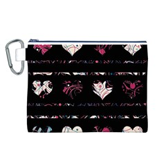 Elegant harts pattern Canvas Cosmetic Bag (L)