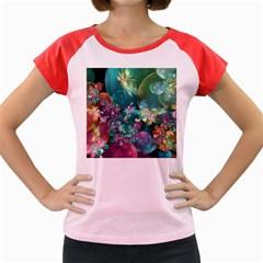 Butterflies, Bubbles, And Flowers Women s Cap Sleeve T-Shirt