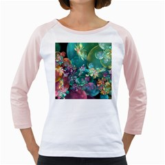 Butterflies, Bubbles, And Flowers Girly Raglans