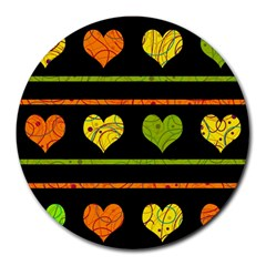 Colorful harts pattern Round Mousepads