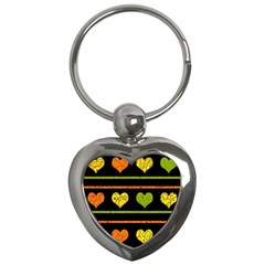 Colorful harts pattern Key Chains (Heart)