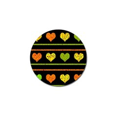 Colorful harts pattern Golf Ball Marker (10 pack)
