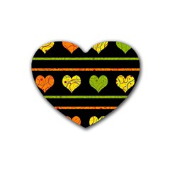 Colorful harts pattern Heart Coaster (4 pack)