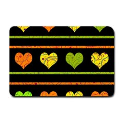Colorful harts pattern Small Doormat