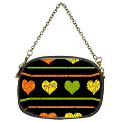 Colorful harts pattern Chain Purses (One Side)