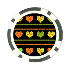 Colorful harts pattern Poker Chip Card Guards (10 pack)