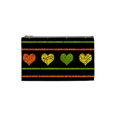 Colorful harts pattern Cosmetic Bag (Small)