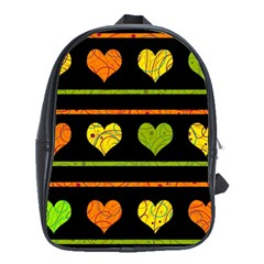 Colorful harts pattern School Bags(Large)