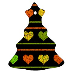 Colorful harts pattern Christmas Tree Ornament (2 Sides)