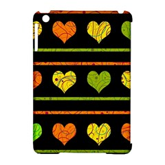 Colorful harts pattern Apple iPad Mini Hardshell Case (Compatible with Smart Cover)